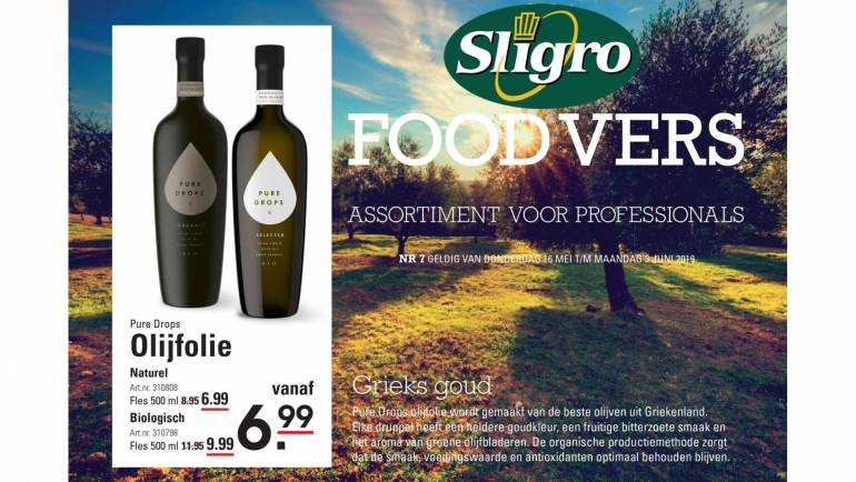 Pure Drops Olive Oil at Sligro